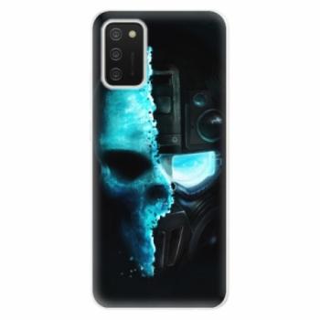 Odolné silikonové pouzdro iSaprio - Roboskull - Samsung Galaxy A02s