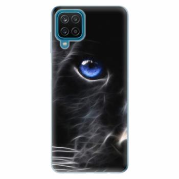 Odolné silikonové pouzdro iSaprio - Black Puma - Samsung Galaxy A12