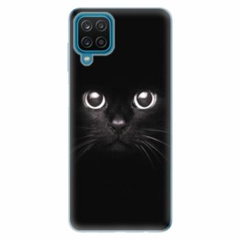 Odolné silikonové pouzdro iSaprio - Black Cat - Samsung Galaxy A12