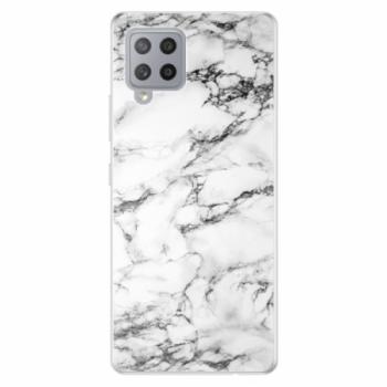 Odolné silikonové pouzdro iSaprio - White Marble 01 - Samsung Galaxy A42