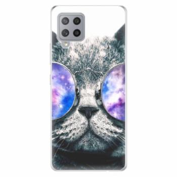 Odolné silikonové pouzdro iSaprio - Galaxy Cat - Samsung Galaxy A42