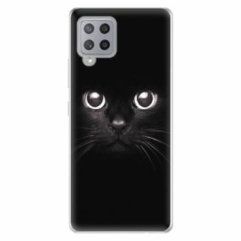 Odolné silikonové pouzdro iSaprio - Black Cat - Samsung Galaxy A42