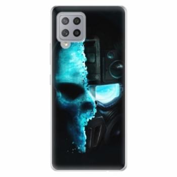 Odolné silikonové pouzdro iSaprio - Roboskull - Samsung Galaxy A42