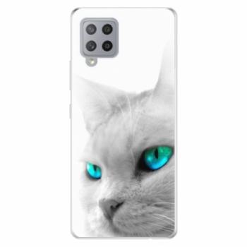 Odolné silikonové pouzdro iSaprio - Cats Eyes - Samsung Galaxy A42