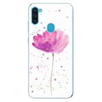 Odolné silikonové pouzdro iSaprio - Poppies - Samsung Galaxy M11