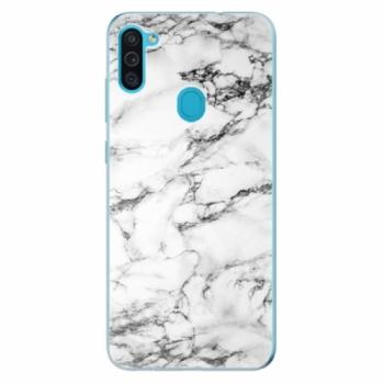 Odolné silikonové pouzdro iSaprio - White Marble 01 - Samsung Galaxy M11