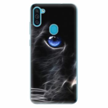 Odolné silikonové pouzdro iSaprio - Black Puma - Samsung Galaxy M11