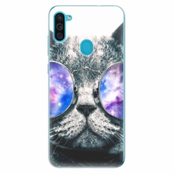 Odolné silikonové pouzdro iSaprio - Galaxy Cat - Samsung Galaxy M11