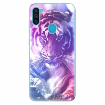 Odolné silikonové pouzdro iSaprio - Purple Tiger - Samsung Galaxy M11