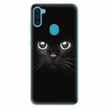 Odolné silikonové pouzdro iSaprio - Black Cat - Samsung Galaxy M11