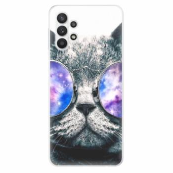 Odolné silikonové pouzdro iSaprio - Galaxy Cat - Samsung Galaxy A32 5G