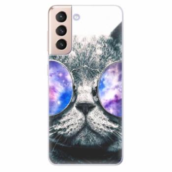 Odolné silikonové pouzdro iSaprio - Galaxy Cat - Samsung Galaxy S21