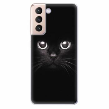 Odolné silikonové pouzdro iSaprio - Black Cat - Samsung Galaxy S21
