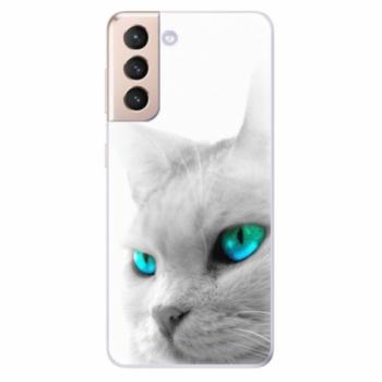 Odolné silikonové pouzdro iSaprio - Cats Eyes - Samsung Galaxy S21