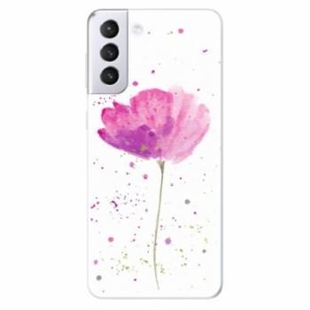 Odolné silikonové pouzdro iSaprio - Poppies - Samsung Galaxy S21+
