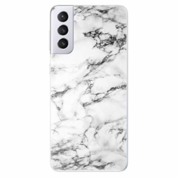 Odolné silikonové pouzdro iSaprio - White Marble 01 - Samsung Galaxy S21+