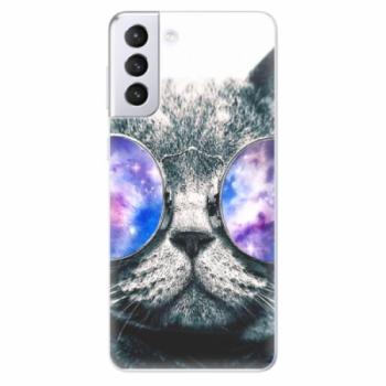 Odolné silikonové pouzdro iSaprio - Galaxy Cat - Samsung Galaxy S21+