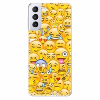 Odolné silikonové pouzdro iSaprio - Emoji - Samsung Galaxy S21+