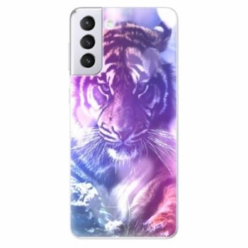 Odolné silikonové pouzdro iSaprio - Purple Tiger - Samsung Galaxy S21+