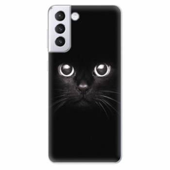 Odolné silikonové pouzdro iSaprio - Black Cat - Samsung Galaxy S21+