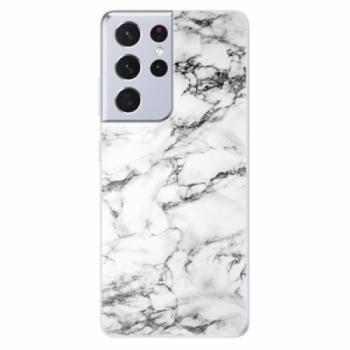 Odolné silikonové pouzdro iSaprio - White Marble 01 - Samsung Galaxy S21 Ultra