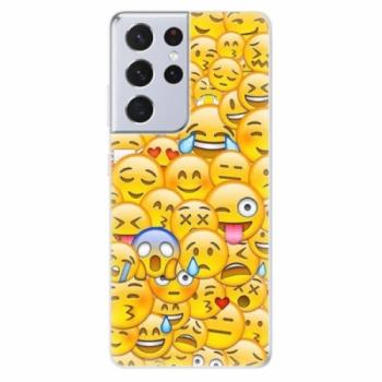 Odolné silikonové pouzdro iSaprio - Emoji - Samsung Galaxy S21 Ultra