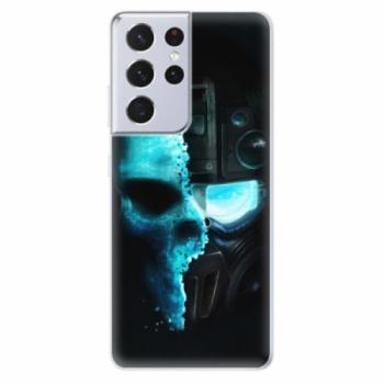 Odolné silikonové pouzdro iSaprio - Roboskull - Samsung Galaxy S21 Ultra
