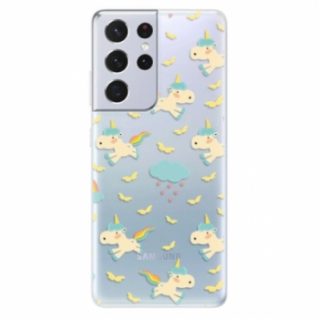 Odolné silikonové pouzdro iSaprio - Unicorn pattern 01 - Samsung Galaxy S21 Ultra