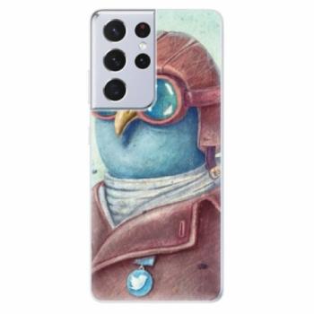 Odolné silikonové pouzdro iSaprio - Pilot twitter - Samsung Galaxy S21 Ultra