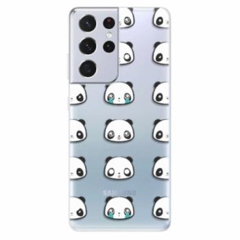 Odolné silikonové pouzdro iSaprio - Panda pattern 01 - Samsung Galaxy S21 Ultra