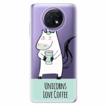 Odolné silikonové pouzdro iSaprio - Unicorns Love Coffee - Xiaomi Redmi Note 9T
