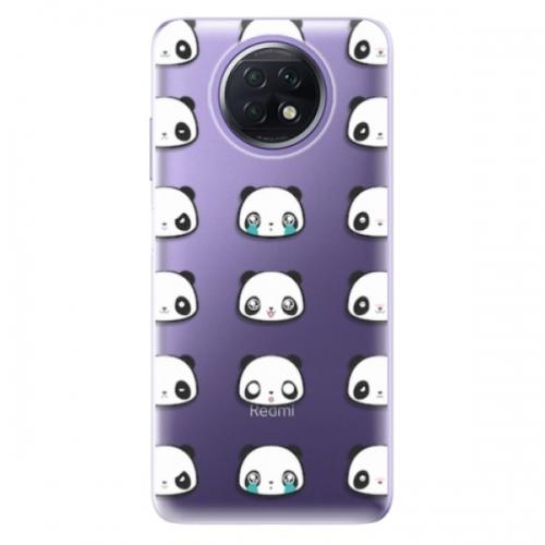 Odolné silikonové pouzdro iSaprio - Panda pattern 01 - Xiaomi Redmi Note 9T