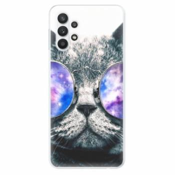 Odolné silikonové pouzdro iSaprio - Galaxy Cat - Samsung Galaxy A32