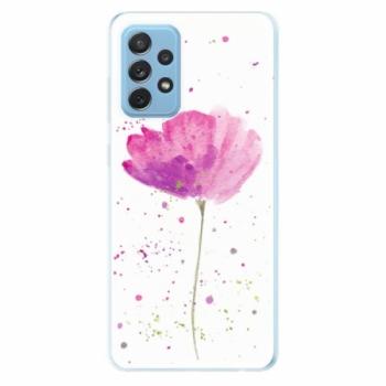 Odolné silikonové pouzdro iSaprio - Poppies - Samsung Galaxy A72