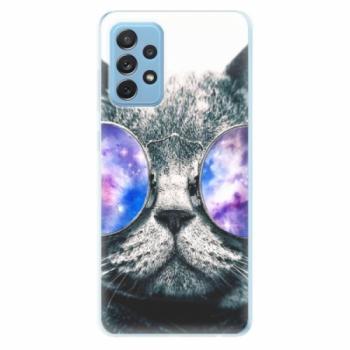 Odolné silikonové pouzdro iSaprio - Galaxy Cat - Samsung Galaxy A72