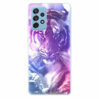 Odolné silikonové pouzdro iSaprio - Purple Tiger - Samsung Galaxy A72