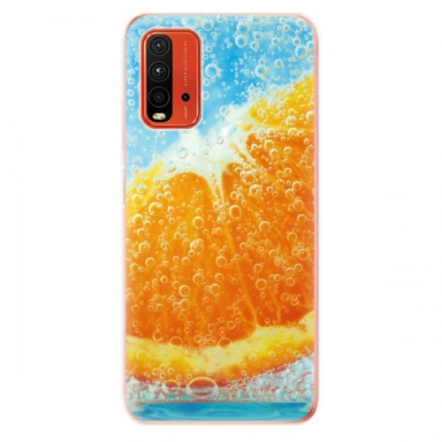 Odolné silikonové pouzdro iSaprio - Orange Water - Xiaomi Redmi 9T