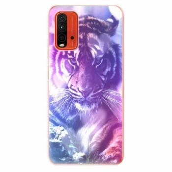 Odolné silikonové pouzdro iSaprio - Purple Tiger - Xiaomi Redmi 9T