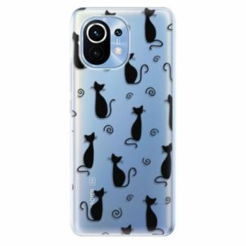 Odolné silikonové pouzdro iSaprio - Cat pattern 05 - black - Xiaomi Mi 11