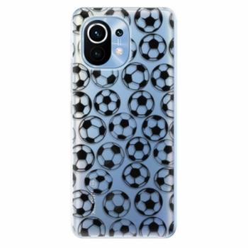 Odolné silikonové pouzdro iSaprio - Football pattern - black - Xiaomi Mi 11