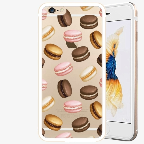 Plastový kryt iSaprio - Macaron Pattern - iPhone 6/6S - Gold