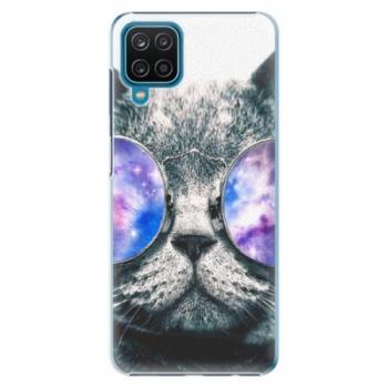 Plastové pouzdro iSaprio - Galaxy Cat - Samsung Galaxy A12