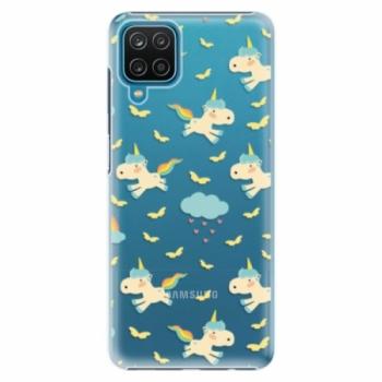 Plastové pouzdro iSaprio - Unicorn pattern 01 - Samsung Galaxy A12