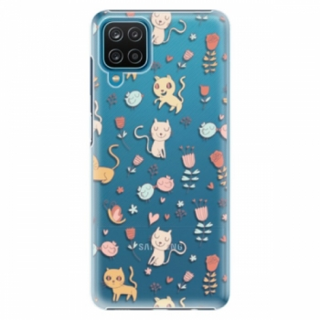 Plastové pouzdro iSaprio - Cat pattern 02 - Samsung Galaxy A12