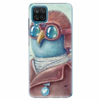Plastové pouzdro iSaprio - Pilot twitter - Samsung Galaxy A12