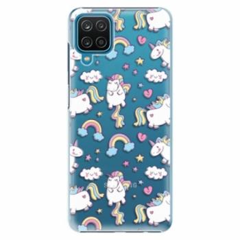 Plastové pouzdro iSaprio - Unicorn pattern 02 - Samsung Galaxy A12