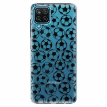 Plastové pouzdro iSaprio - Football pattern - black - Samsung Galaxy A12
