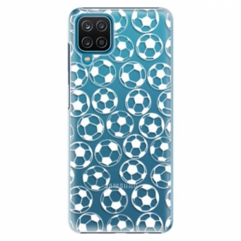 Plastové pouzdro iSaprio - Football pattern - white - Samsung Galaxy A12