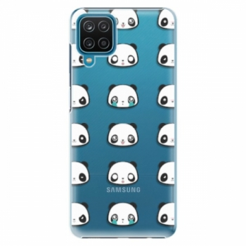 Plastové pouzdro iSaprio - Panda pattern 01 - Samsung Galaxy A12