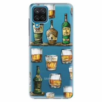 Plastové pouzdro iSaprio - Whisky pattern - Samsung Galaxy A12